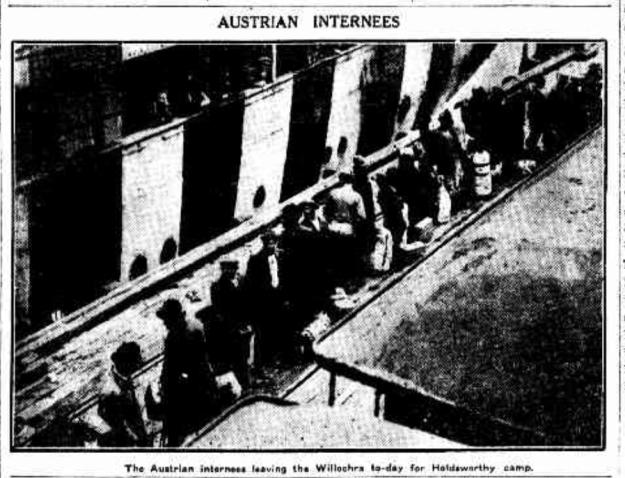 Austrian Internees 1919 Sydney harbour