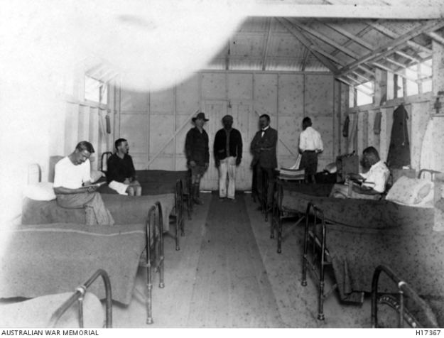 hospital ward, holsworthy, 1916