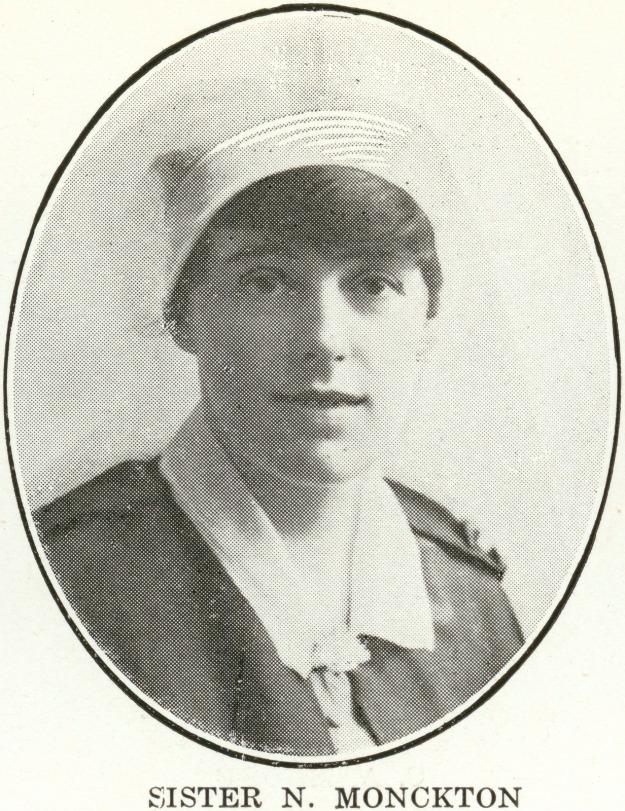 sister Monckton, Garrison Hospital 1915