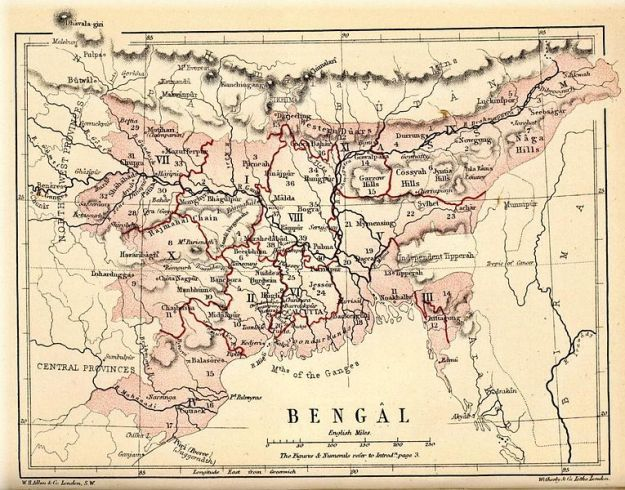 Map of Bengal 1880