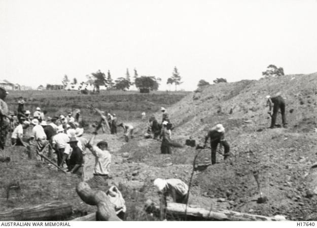Liverpool camp, internees at work, WW1