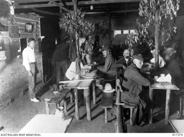 Liverpool camp, cafe, WW1