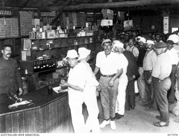 Liverpool camp, store, WW1