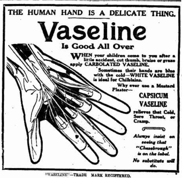Vaseline advertisement 1913