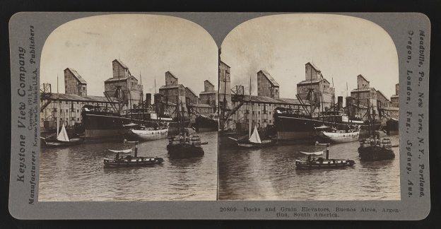 Buenos Aires, docks and grain elevators 1913