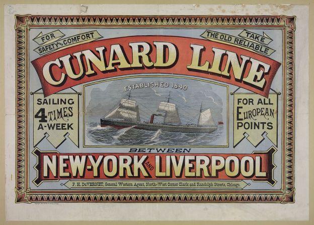 Cunard Line poster 1875