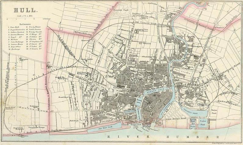 Hull, map