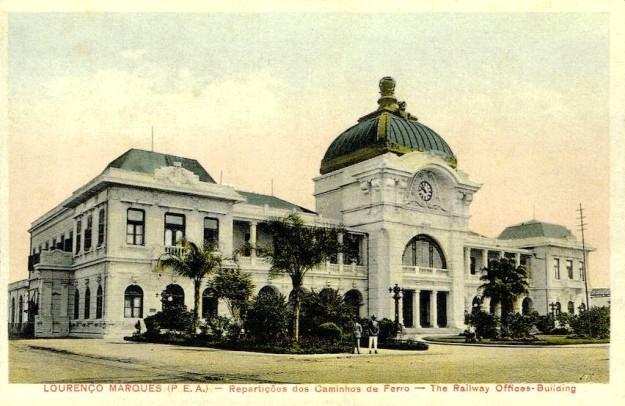 Bahnhof in Lourenço Marques, um 1920
