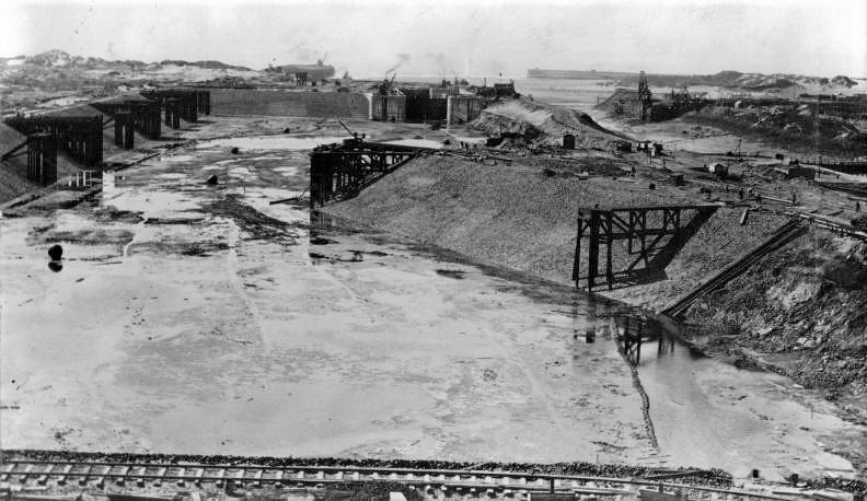 Port talbot, docks in construction