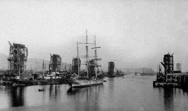 swansea kings dock 1910 coal hoist
