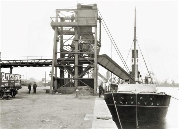 Swansea Docks um 1915