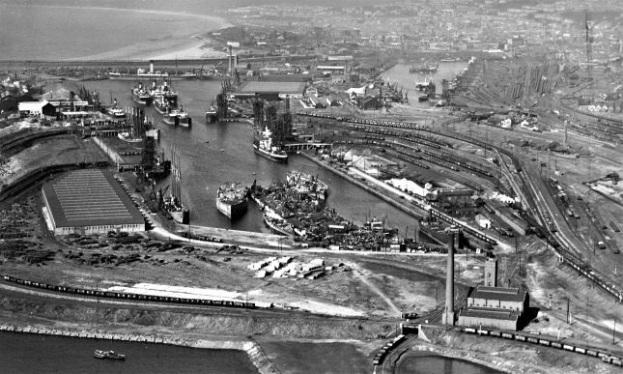 Swansea Docks 1920er Jahre