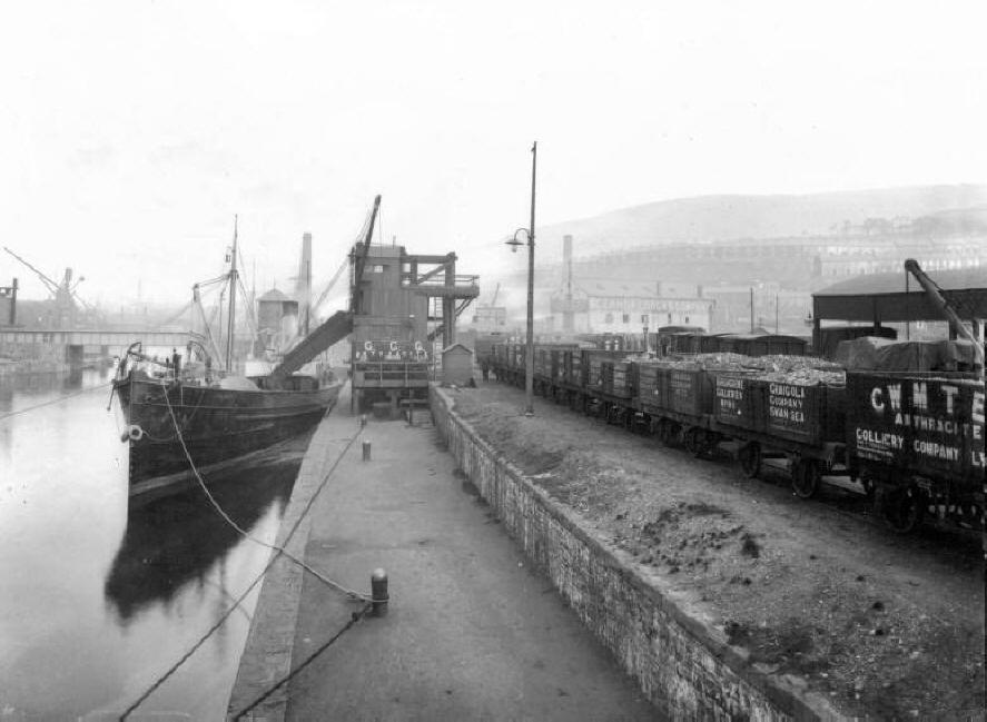 Swansea Docks, um 1890