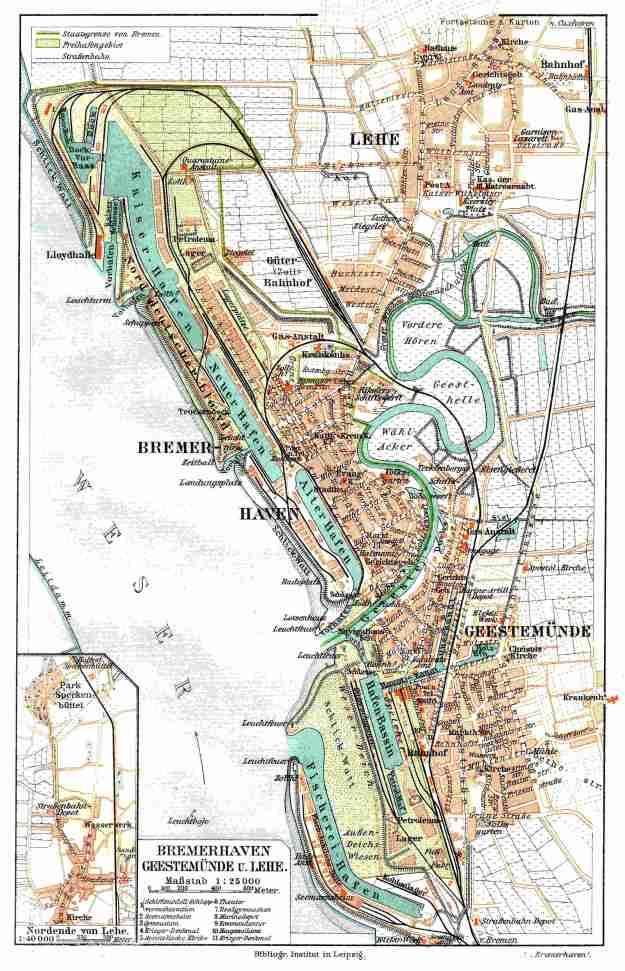 Bremerhaven, Stadtplan, 1901